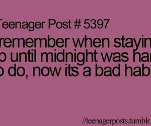 teenager post, teenager, and midnight image