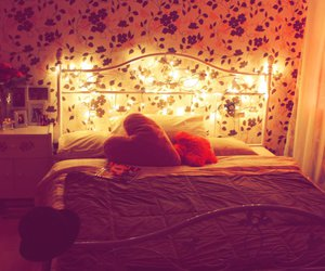 heart, lights, and room image
