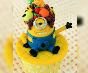 cake, minions, and chocolate image