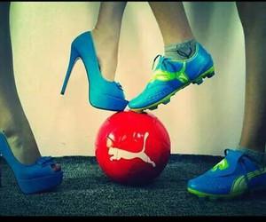 ball, football, and girl and boy image