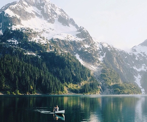 boat, nature, and river image