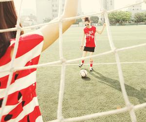 football and girls image