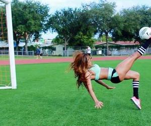 football, girl, and ball image