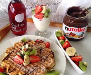nutella, food, and fruit image