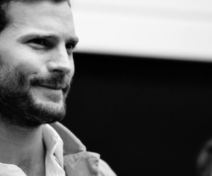 black and white, 50 shades movie, and Jamie Dornan image