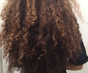 hair, curly, and makeup image