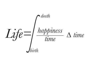 life, time, and happiness image