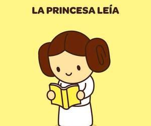 read, princess, and star wars image