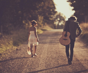 couple and guitar image