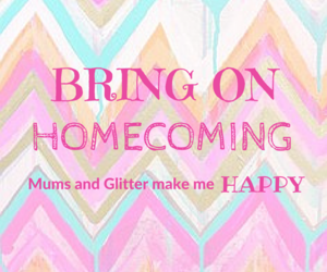 glitter, mums, and homecoming dresses image