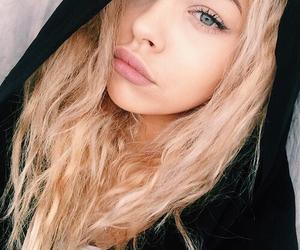 blonde, hood, and make-up image
