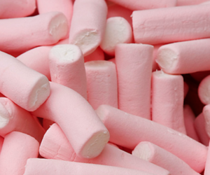 marshmallow, candy, and pink image