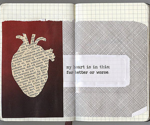 heart, text, and Collage image