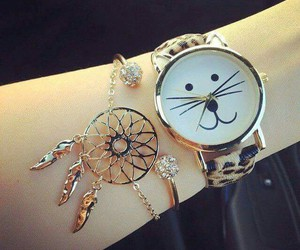 bracelet, dreamcatcher, and girl image