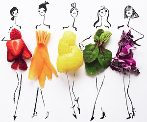 fruit, food, and dress image