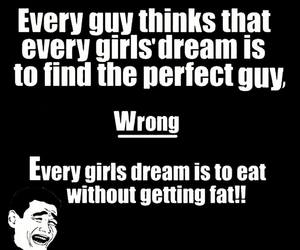 girl, Dream, and fat image