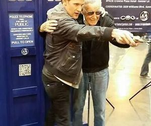 stan lee, matt smith, and doctor who image