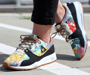 flowers, shoes, and le coq sportif image