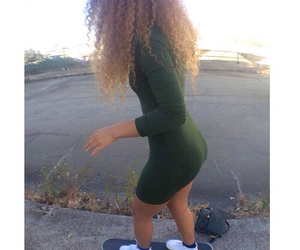 dress, girl, and hair goals image