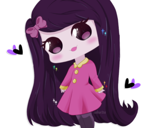 chibi, purple, and fanart image