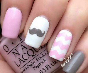 moustache, white, and nails image
