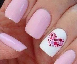 heart, nails, and pink image