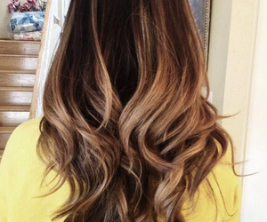 awesome, brunette, and highlights image