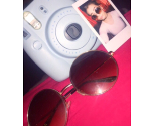 girl, instax, and sunglasses image
