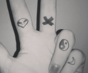 black, hand, and nails image
