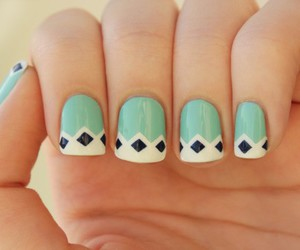 awesome, we heart it, and diamond nails image