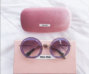 pink, sunglasses, and fashion image