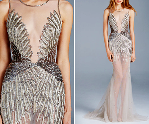 fashion, model, and gown image