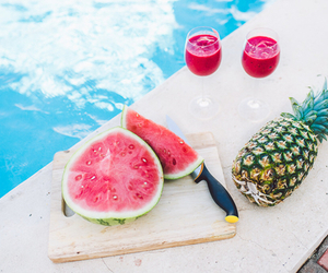 summer, food, and pool image