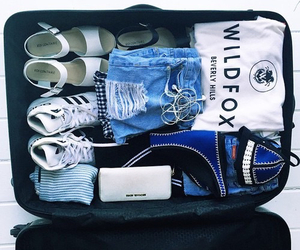 travel, clothes, and blue image
