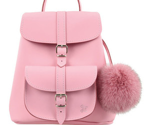 pink, bag pack, and cute image