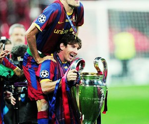 football, leo messi, and fc barcelona image