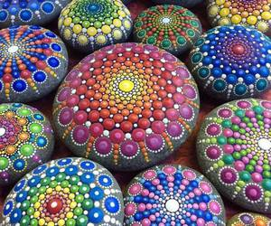 art, stone, and colors image