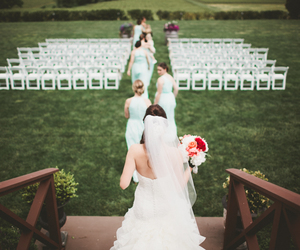 bride, bridemaids, and wedding image