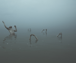 creepy, spooky, and swimming image