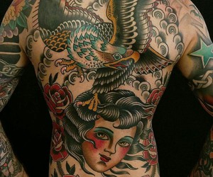 traditional tattoo, lina stigsson, and back pieces image