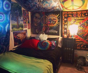 bedroom, trippy, and goodtrip image