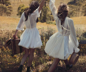 friends, dress, and white image