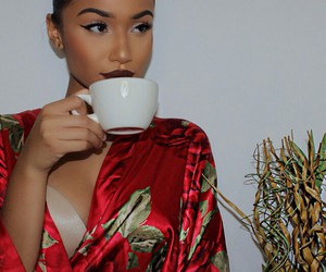 girl, hair, and tea image