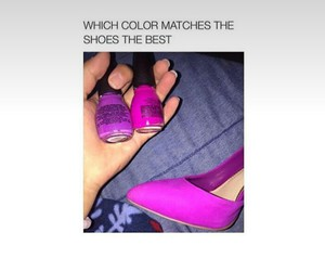 funny, nails, and purple image