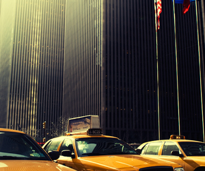 new york, photography, and taxi image
