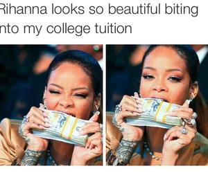 funny, rihanna, and money image