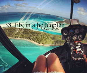 girl, helicopter, and ocean image