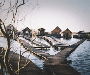 cabins, natural, and lake image
