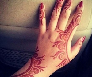arabic, henna, and mehndi image