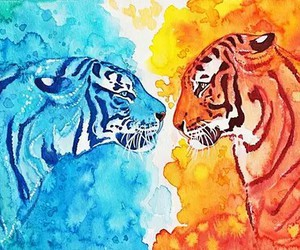 tiger, tigers, and art image